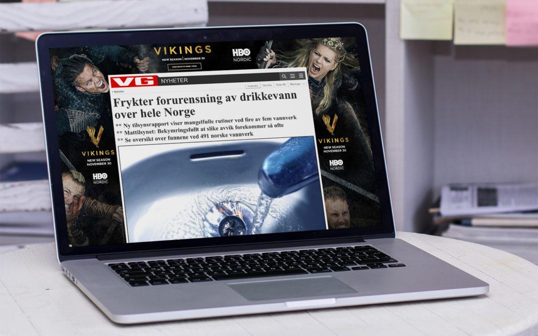 Alarmerende artikler i media om norsk drikkevann
